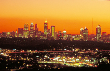 Atlanta skyline at sunset (3)