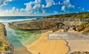 Maurice, Óle de Rodrigues, Anse Bouteille, bord de mer, vue panoramique d'une crique aux eaux turquoises