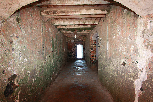 Walkway to the Door of No Return. Goree Island, Senegal.