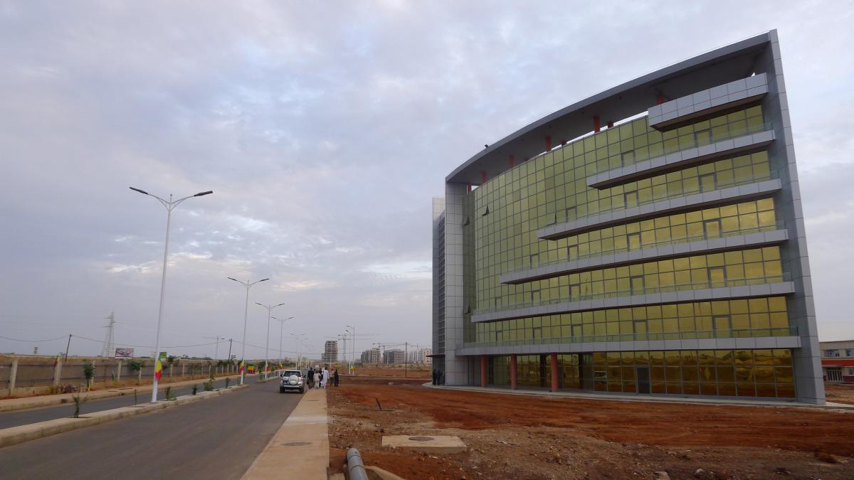An administrative building at Senegal's new Diamniadio industrial park in Senegal