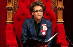 Canada's Governor General Michaelle Jean delivers the Speech from the Throne in the Senate chamber on Parliament Hill in Ottawa January 26, 2009. REUTERS/Chris Wattie (CANADA)