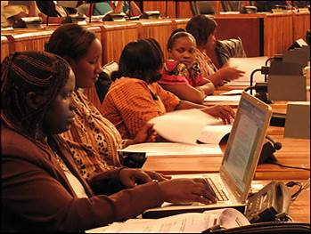 Women in Rwanda Parliament