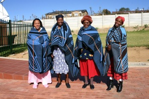 Maseru Sisters in Blankets