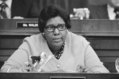 Rep. Barbara Jordan, D-Tex., offers her view on impeachment of President Richard Nixon during a night session of the House Judiciary Committee in Washington Thursday, July 25, 1974. Rep. Jordan is one of five Democratic first-termers on the panel. (AP Photo)