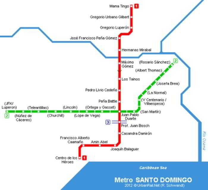 santo-domingo-metro-map-line1-line2