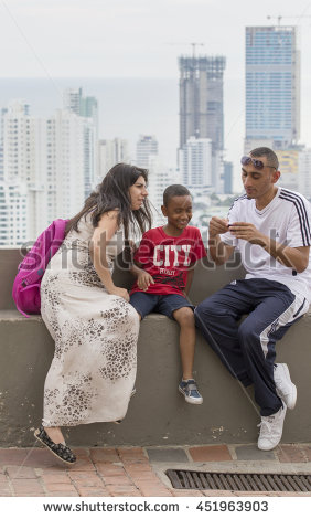 stock-photo-cartagena-colombia-october-people-watching-the-panorama-of-new-part-of-cartagena-it-451963903
