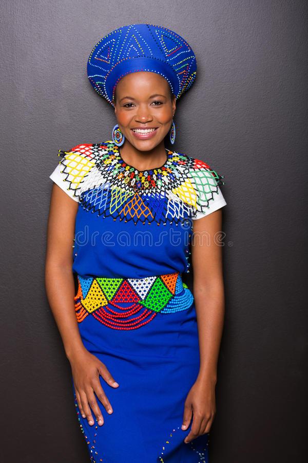 african-zulu-woman-gorgeous-standing-against-black-wall-43153999