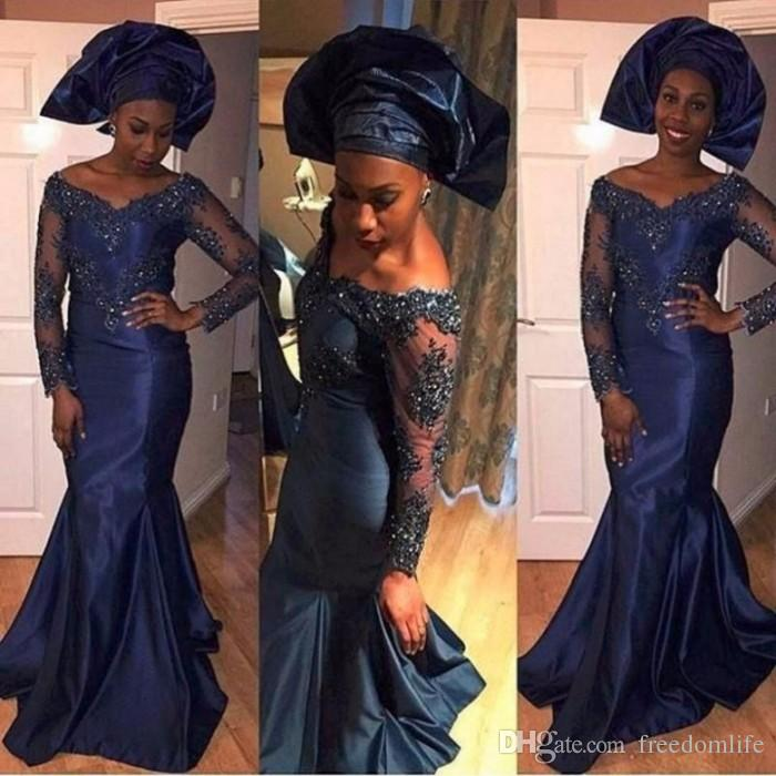 nigerian-style-navy-blue-evening-dresses