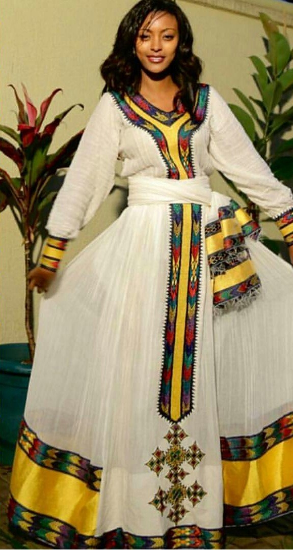 Ethiopian Traditional Dress ~ Dkk~ Join Us At: Https://www inside Ethiopian New Fashion Clothes