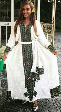 Ethiopian Traditional Dress ~ Dkk~ Join Us At: Https://www with Eritrean Traditional Clothes Fashion