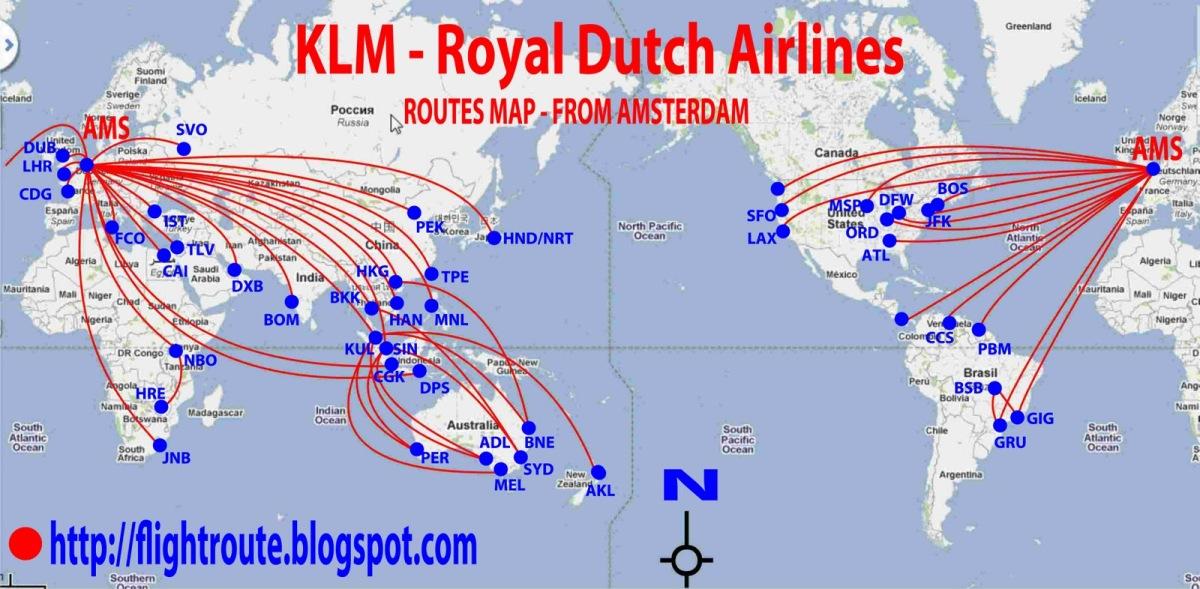 KLM via Amsterdam